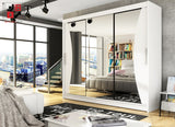 NOTSA 4 -  3 sliding door wardrobe for those who would like to hide mother-in-law >250cm width<