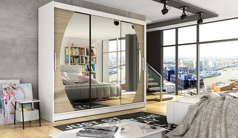 NOTSA 5 - 3 Sliding door wardrobe with mirror, hanging rail and great situated shelves >250cm<