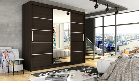 NOTSA 6 - 3 Sliding door wardrobe with mirror, hanging rail and great situated shelves >250cm<