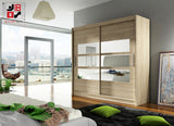 BRAVA - 2 sliding door wardrobe with mirrors