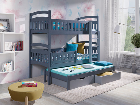 Dominic Iii Perfect Triple Bunk Bed For Your Loved Ones Wardrobe