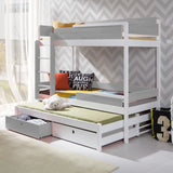 TANU III - Unique triple bunk bed with solid construction