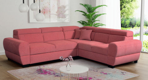 BAILE 3R - Modern Corner Sofa with Storage and Sleeping Function optional >272x237cm<