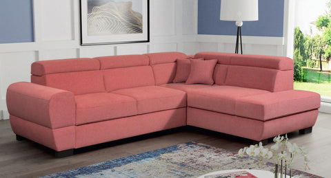 BAILE 2R - Modern Corner Sofa with Storage and Sleeping Function optional >273x210cm<