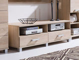 RUSSEL R30 - Modern RTV Stand with 2 Drawers, 4 colours >150cm<