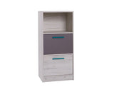 ANDORA A12 - Modern 2 Drawer Chest with Shelf and Elegant Design >50cm<