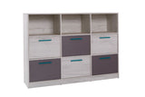 ANDORA A13 - Modern 6 Drawer Chest with Shelves and Elegant Design >146cm<