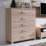 RUSSEL R20 - Modern 5 Drawer Chest with Classy Design, 4 colours >100cm<
