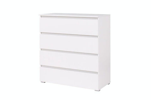 ANGELA A4 - Modern 4 Drawer Chest with Classy Design. 3 Colours >92cm<