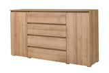 ANGELA A6 - Modern Door Chest with 4 Drawers and 2 Doors. 3 Colours >184cm<