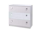 LEAH STRIPES - Modern 3 Drawer Chest - 2 Colours >92cm<