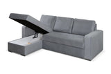 AVEZZO - Modern Corner Sofa Bed with Storages and Pull Out Bed >230x160cm<