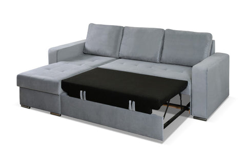 Fine Avezzo Modern Corner Sofa Bed With Storages And Pull Out Bed 230X160Cm Complete Home Design Collection Barbaintelli Responsecom