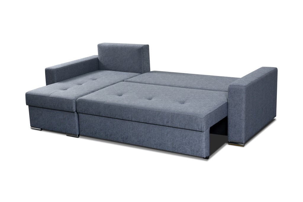 Fabulous Agna Modern Corner Sofa Bed With Storage And Pull Out Bed 236X142Cm Caraccident5 Cool Chair Designs And Ideas Caraccident5Info