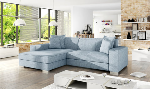 MEXICO - Comfortable Corner Sofa Bed with Storage and Pull Out Bed  >263x178cm<