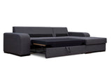 VICTORIA - Modern Corner Sofa Bed with Storage and Pull Out Bed. Many Colours >285x165cm<