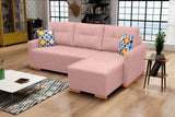 X1 - Modern Corner Sofa Bed with Storages, Pull Out Bed and Cushions. Various Colours >228x151cm<