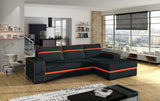 FINT - Modern Corner Sofa Bed with Storage and Pull Out Bed. Many Various Colours >285x165cm<