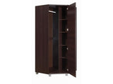 RUSSEL IV - Corner Wardrobe With Hanging Rail and Shelves will save space in your room >90-90cm<