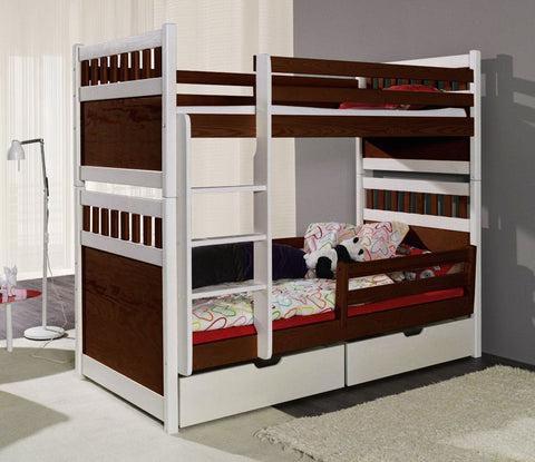 SALOMON - Sought-after pine wood bunk bed - Wardrobe-Bunk-Bed-Sofa - 1