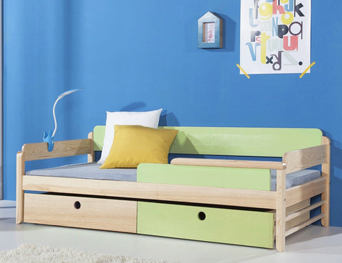 TANU - Really cute single bed for children with drawers