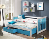 SURICATE - Classic dual bunk bed with huge drawers