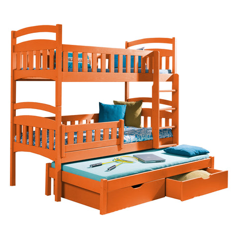 DONALD III - Perfect triple bunk bed with trundle bed. Capri. FAST DELIVERY & FREE ASSEMBLY