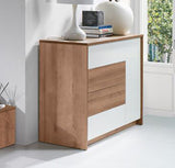 CALLIE - Modern Door Chest with 1 Door and 4 Drawers. Push to open system >137cm<
