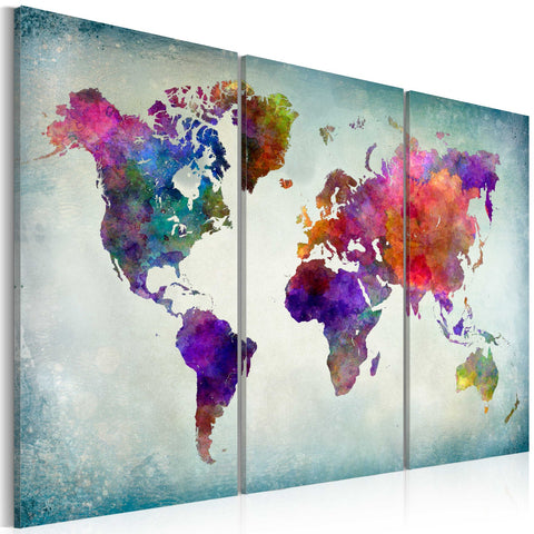 Canvas Print - World in Colors