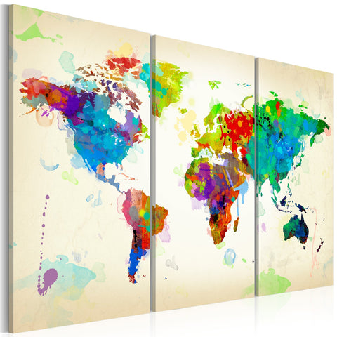 Canvas Print - All colors of the World - triptych