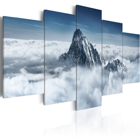 Canvas Print - A peak rising above the clouds