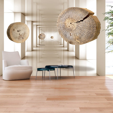 Wallpaper - Flying Discs of Wood