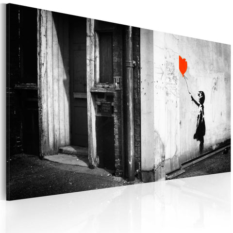 Canvas Print - Girl with balloon (Banksy)