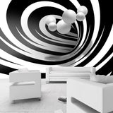 Wallpaper - Twisted In Black & White