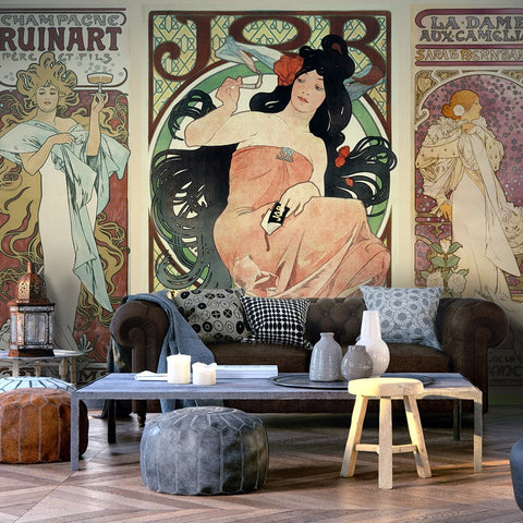 Wallpaper - Alphonse Mucha. Women's