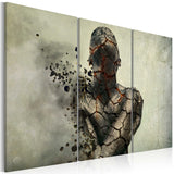 Canvas Print - The man of stone - triptych