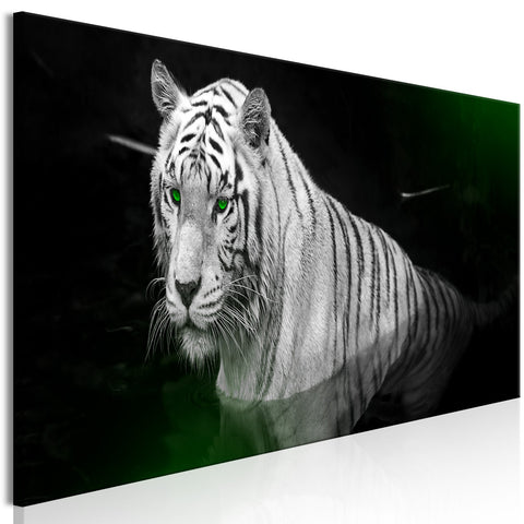 Canvas Print - Shining Tiger (1 Part) Green Narrow