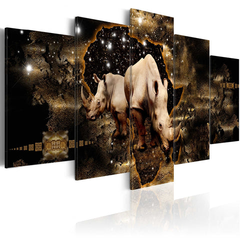 Canvas Print - Golden Rhino