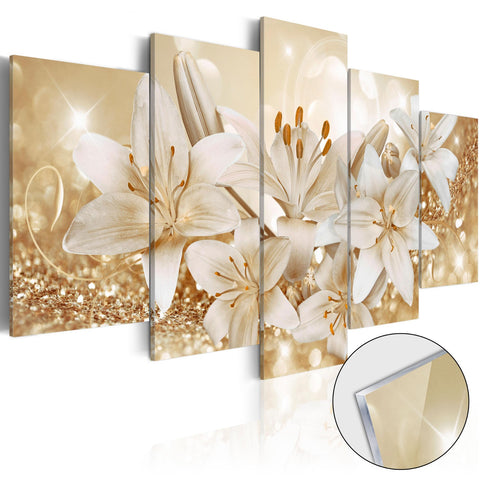 Acrylic Print - Golden Bouquet [Glass]