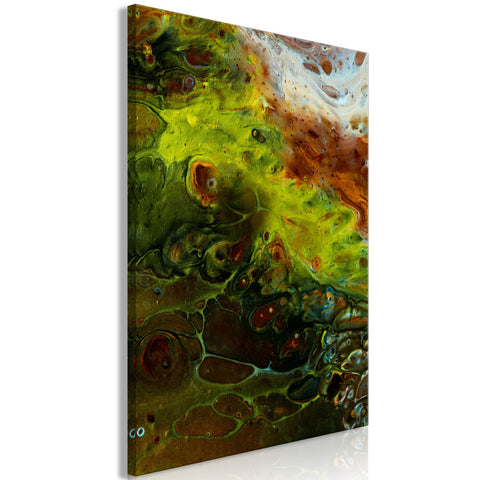 Canvas Print - Green Elements (1 Part) Vertical