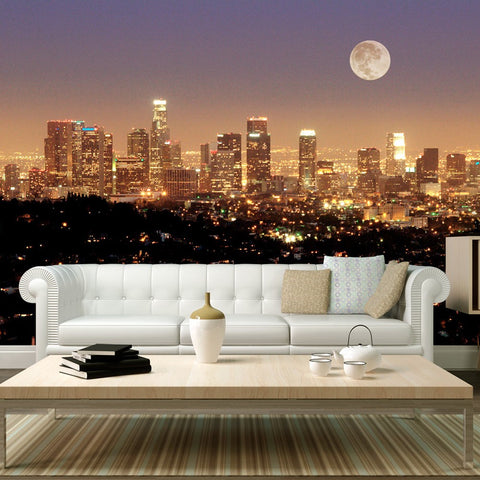 Wallpaper - The moon over the City of Angels
