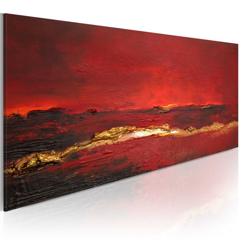 Handmade painting - Redness of the ocean