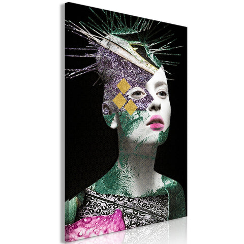 Canvas Print - Colourful Portrait (1 Part) Vertical