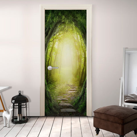 Photo wallpaper on the door - The Forest of Fantasy
