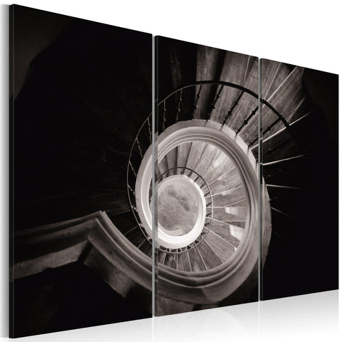 Canvas Print - Down a spiral staircase