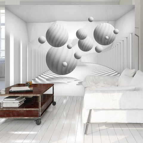 Wallpaper - Balls in White