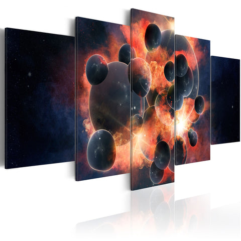 Canvas Print - Theory of the universe creation