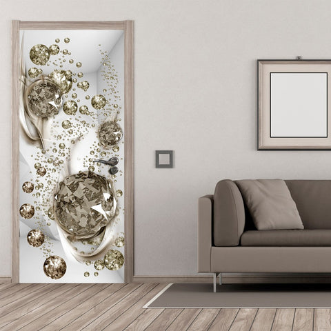 Photo wallpaper on the door - Photo wallpaper - Bubble abstraction I