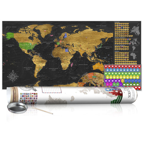 Scratch map - Golden Map - Poster (English Edition)