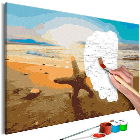 DIY canvas painting - Sea Finds